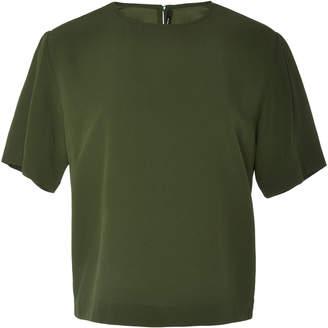 Bouguessa Keyhole Crepe T-Shirt