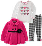 Kids Headquarters 3-Pc. Houndstooth Jacket, T-Shirt and Leggings Set, Little Girls (4-6X)