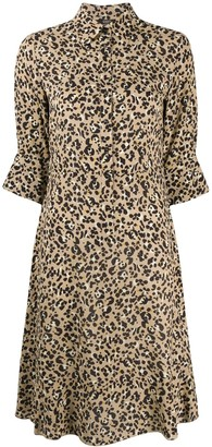 Seventy Animal Print Shirt Dress