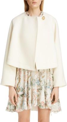 Chloé Wool Blend Short Swing Coat