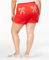 Soffe Curves Plus Size Candy Cane Graphic Shorts, a Macy's Exclusive Style