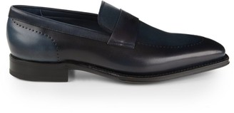 Sutor Mantellassi Albizi Two-Tone Leather Loafers