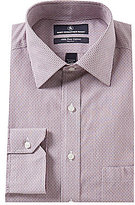 Hart Schaffner Marx Non-Iron Fitted Classic-Fit Spread Collar Stripe Dress Shirt