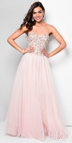 Terani Couture Tulle Floral Beaded Sweetheart Ball Gown