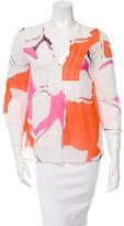 Diane von Furstenberg Silk Printed Top