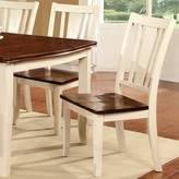Hokku Designs Marilou Solid Wood Dining Chair Color: Cream White / Cherry
