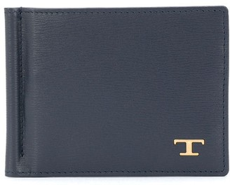 Tod's Money Clip Monogram Wallet