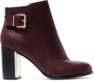 Forever New Karina Block Heel Boots - Berry - 36