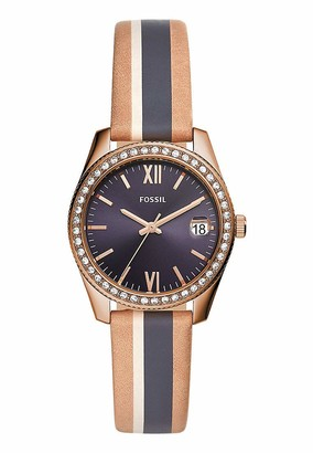 Fossil Womens Analogue Quartz Watch with Leather Strap ES4594