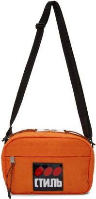 Heron Preston Orange Style Dots Camera Bag