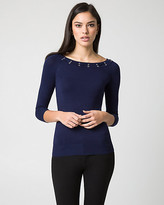 Le Château Viscose Blend Boat Neck Sweater