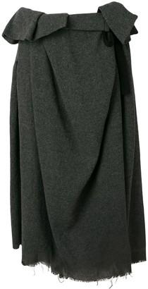 Comme des Garcons Pre-Owned paper bag waist raw hem skirt