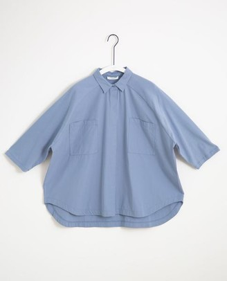Beaumont Organic Stephanie Organic Cotton Shirt In Sky - Sky / Extra Small