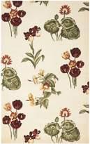 Safavieh Mandarin Collection MD408B Ivory and Green Wool Area Rug, 4-Feet x 6-Feet