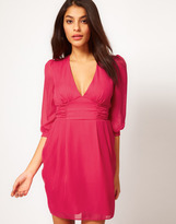 Asos Tulip Dress With Ruched Waistband