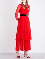 Gucci Bow-embellished silk dress