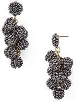 Aqua Beaded Cluster Drop Earrings - 100% Exclusive