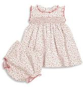 Kissy Kissy Baby's Two-Piece Sprint Meadow Cotton Printed Dress & Diaper Cover