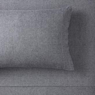 Pottery Barn Teen Heathered Organic Flannel Pillowcases, Set of 2, Faded Navy