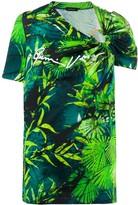 Versace botanical-print top