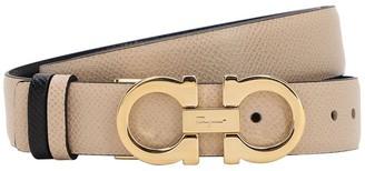 Salvatore Ferragamo 25mm Reversible Leather Belt