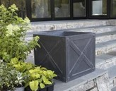 The Well Appointed House X-Cube Garden Planter in Dark Grey
