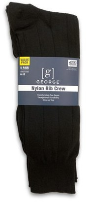 George Nylon Triple Rib Crew Socks, 5-Pack