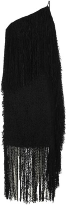 MSGM Fringe One-Shoulder Dress
