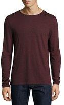John Varvatos Striped Long-Sleeve Crewneck T-Shirt