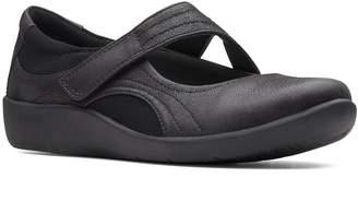 Clarks Cloudsteppers Wide Fit Sillian Bella Flat Shoes - Black