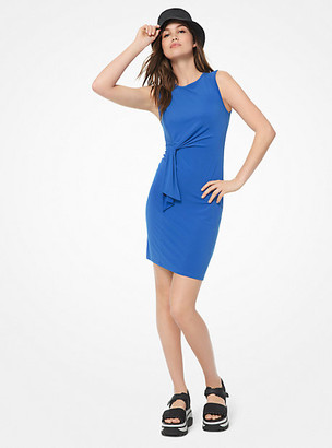 Michael Kors Twist-Front Matte-Jersey Dress