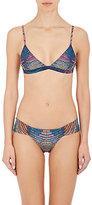 Mara Hoffman Women's Mosaic-Print Triangle Bikini Top