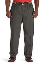 Harbor Bay Elastic-Waist Twill Pants Casual Male XL Big & Tall