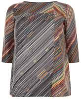 Marina Rinaldi Stripe Print Top
