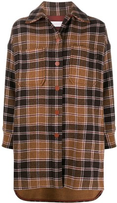 See by Chloe Checked Single-Breasted Coat