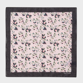 Paul Smith Men's Pink 'Logan Floral' Print Cotton Pocket Square