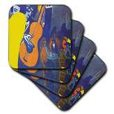 3dRose cst_50930_3 Salvador Dali Painting Scene in a Cabaret Ceramic Tile Coasters, Set of 4