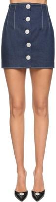 Giuseppe di Morabito Embellished Cotton Denim Mini Skirt