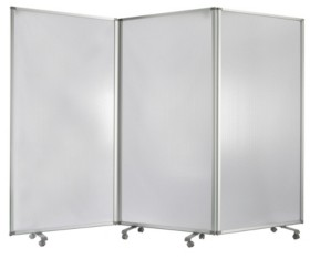 Screen Gems Commercial Residential Double-sided Wheeled 3 Panel Screen