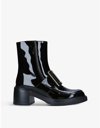 Roger Vivier Viv' Rangers patent-leather heeled ankle boots