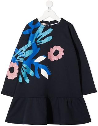 Marni Floral-Print Cotton Dress