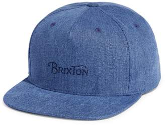 Brixton Denim Wheelie II Cap