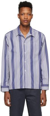 Noah NYC Navy and White Pajama Shirt