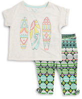 Jessica Simpson Girls 2-6x Sparkle Tee and Patterned Pants Set
