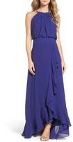 Eliza J Women's Chiffon Ruffle Gown
