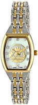Game Time Women's MLB-WCL-NYM World Class Two-Tone Stones Analog Display Japanese Quartz Silver Watch