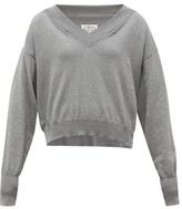 Maison Margiela Convertible-neckline Cotton Sweater - Womens - Grey