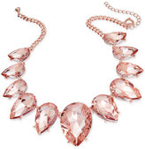 Thalia Sodi Rose Gold-Tone Pink Crystal Statement Necklace, Only at Macy's