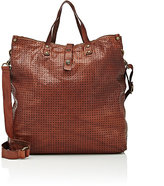 Campomaggi Women's Perforated Tote Bag-BROWN