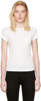 Helmut Lang - T-shirt côtelé blanc